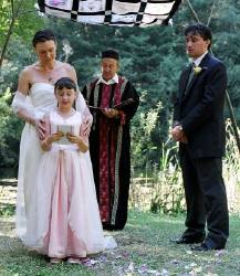 child in wedding ceremony